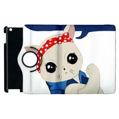 Feminist Cat Apple Ipad 3/4 Flip 360 Case