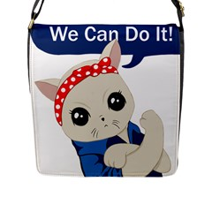 Feminist Cat Flap Messenger Bag (l)