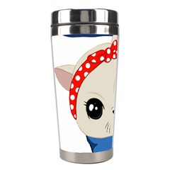 Feminist Cat Stainless Steel Travel Tumblers