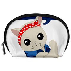 Feminist Cat Accessory Pouches (large)