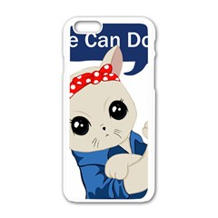 Feminist Cat Apple Iphone 6/6s White Enamel Case