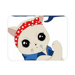 Feminist Cat Double Sided Flano Blanket (mini)