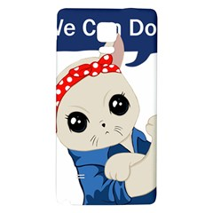 Feminist Cat Galaxy Note 4 Back Case