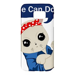 Feminist Cat Samsung Galaxy S7 Edge Hardshell Case