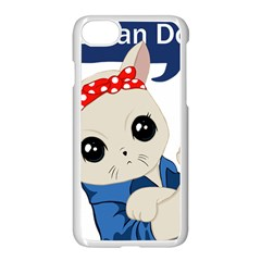 Feminist Cat Apple Iphone 8 Seamless Case (white)
