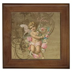 Cupid   Vintage Framed Tiles