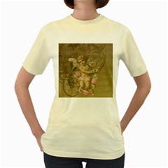 Cupid   Vintage Women s Yellow T Shirt
