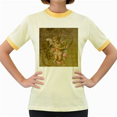 Cupid   Vintage Women s Fitted Ringer T Shirts