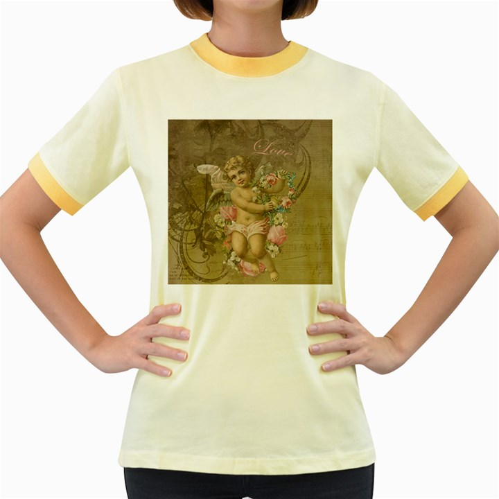 Cupid - Vintage Women s Fitted Ringer T-Shirts