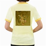 Cupid - Vintage Women s Fitted Ringer T-Shirts Back