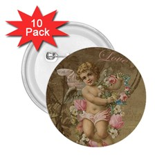 Cupid   Vintage 2 25  Buttons (10 Pack)