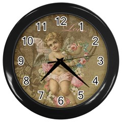 Cupid   Vintage Wall Clocks (black)