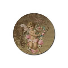 Cupid   Vintage Rubber Round Coaster (4 Pack)