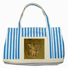 Cupid   Vintage Striped Blue Tote Bag