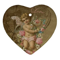 Cupid   Vintage Heart Ornament (two Sides)