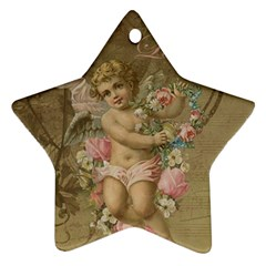 Cupid   Vintage Star Ornament (two Sides)