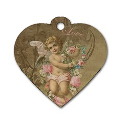 Cupid   Vintage Dog Tag Heart (two Sides)