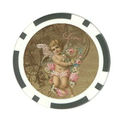 Cupid   Vintage Poker Chip Card Guard