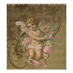 Cupid   Vintage Shower Curtain 66  X 72  (large)