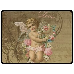 Cupid   Vintage Fleece Blanket (large)