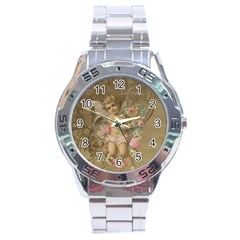 Cupid   Vintage Stainless Steel Analogue Watch
