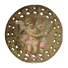 Cupid   Vintage Ornament (round Filigree)