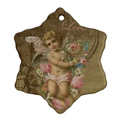 Cupid   Vintage Ornament (snowflake)