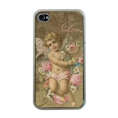 Cupid   Vintage Apple Iphone 4 Case (clear)