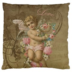Cupid   Vintage Large Cushion Case (one Side)