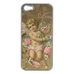 Cupid   Vintage Apple Iphone 5 Case (silver)