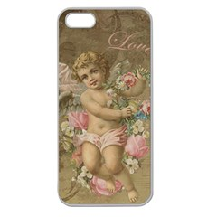 Cupid   Vintage Apple Seamless Iphone 5 Case (clear)