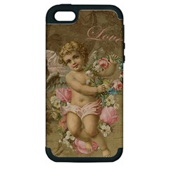 Cupid   Vintage Apple Iphone 5 Hardshell Case (pc+silicone)