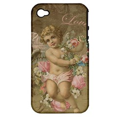 Cupid   Vintage Apple Iphone 4/4s Hardshell Case (pc+silicone)