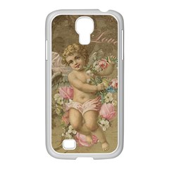 Cupid   Vintage Samsung Galaxy S4 I9500/ I9505 Case (white)