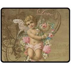 Cupid   Vintage Double Sided Fleece Blanket (medium)