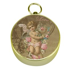 Cupid   Vintage Gold Compasses