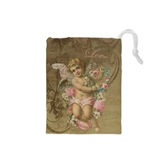 Cupid   Vintage Drawstring Pouches (small)