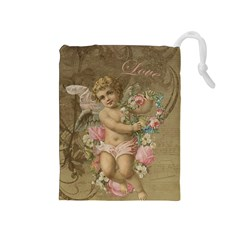 Cupid   Vintage Drawstring Pouches (medium)