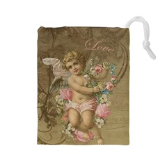 Cupid   Vintage Drawstring Pouches (large)