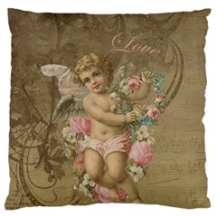 Cupid   Vintage Large Flano Cushion Case (two Sides)