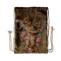 Cupid   Vintage Drawstring Bag (small)