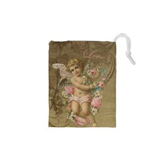 Cupid   Vintage Drawstring Pouches (xs)