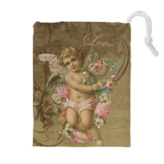 Cupid   Vintage Drawstring Pouches (extra Large)