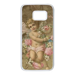 Cupid   Vintage Samsung Galaxy S7 White Seamless Case
