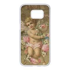 Cupid   Vintage Samsung Galaxy S7 Edge White Seamless Case