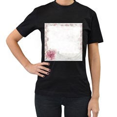 Background 1362163 1920 Women s T Shirt (black) (two Sided)