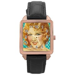 Vintage 1353217 1920 Rose Gold Leather Watch