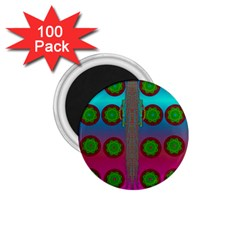 Meditative Abstract Temple Of Love And Meditation 1 75  Magnets (100 Pack)