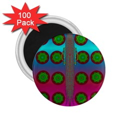 Meditative Abstract Temple Of Love And Meditation 2 25  Magnets (100 Pack)