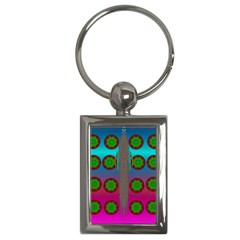 Meditative Abstract Temple Of Love And Meditation Key Chains (rectangle)